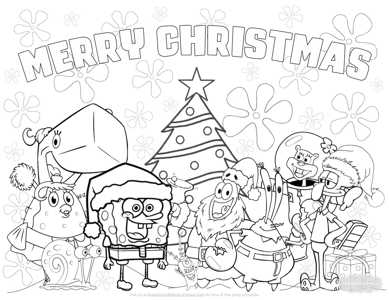 Free Spongebob Christmas Coloring Pages   *~christmas