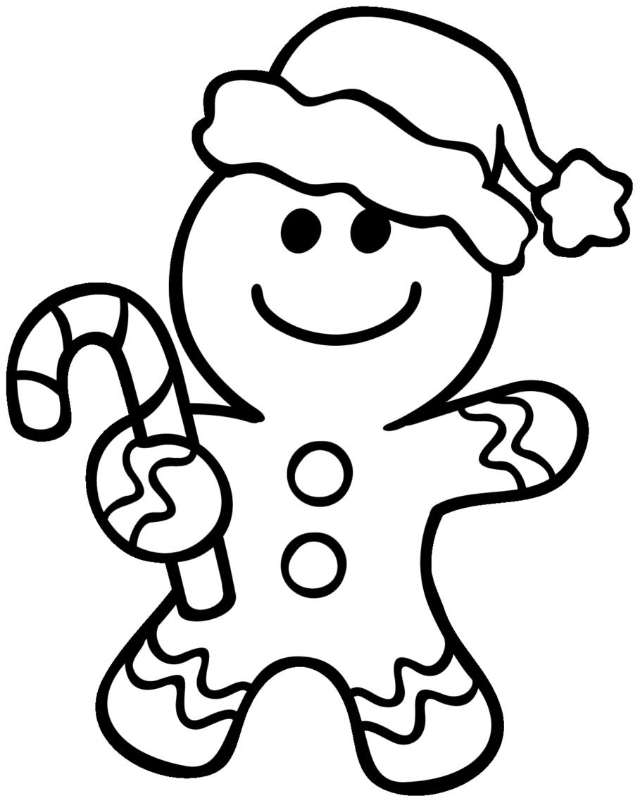Gingerbread Man Coloring Pages Christmas | Navidad