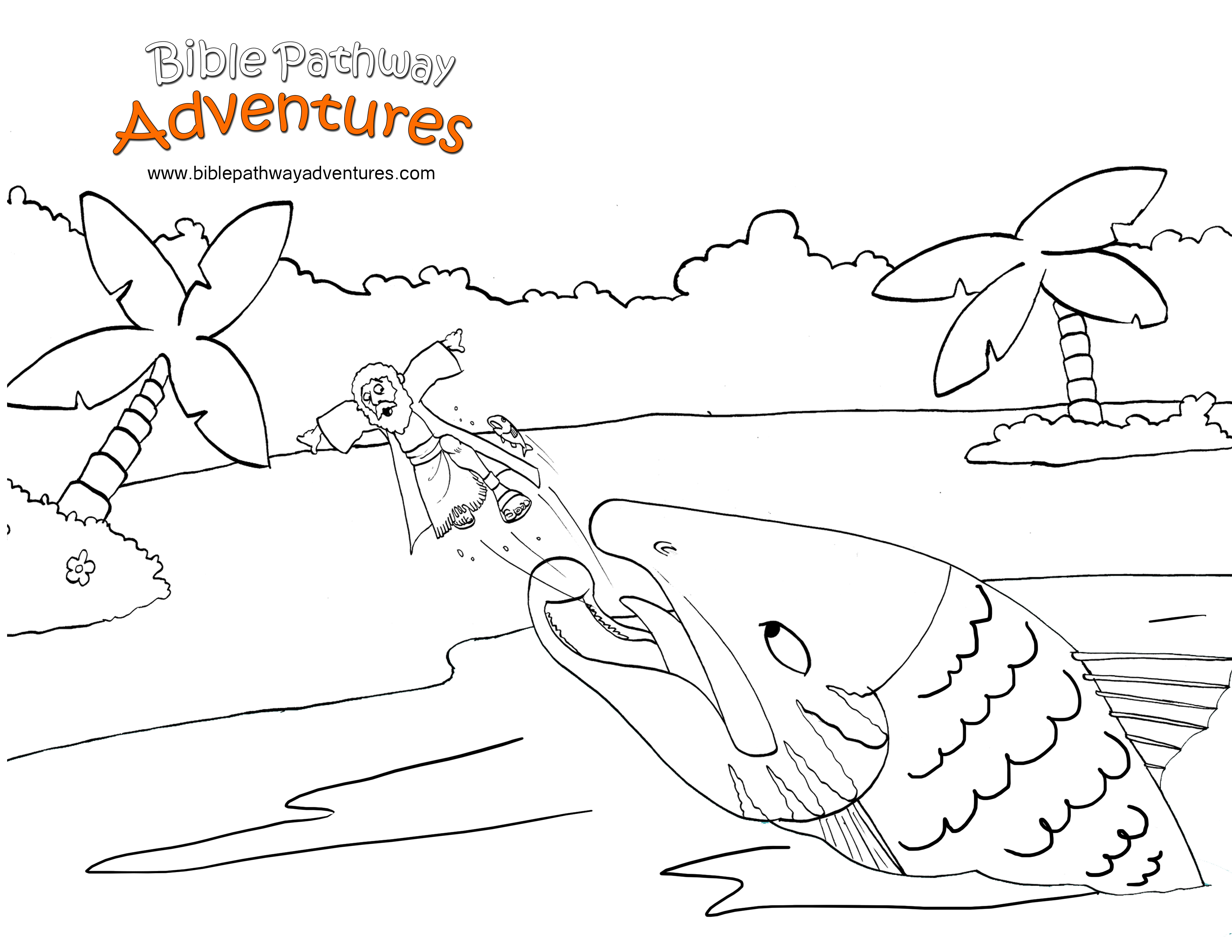 This Coloring Page Shows The Prophet Jonah Running Away From