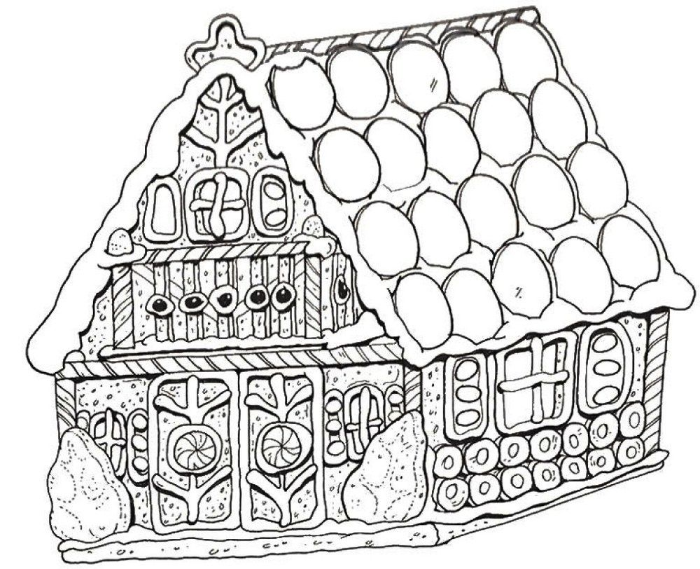 Special Gingerbread House Coloring Pages To Print