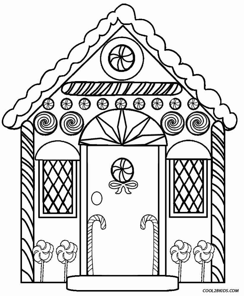 Gingerbread House Coloring Pages | Holiday Coloring Pages
