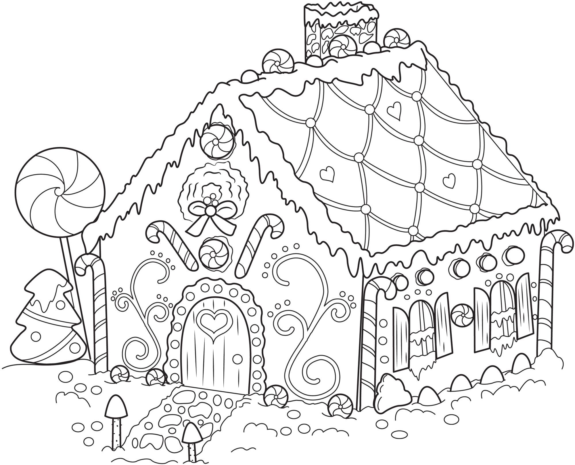 Gingerbread Man Coloring Pages - Colorinenet   #5729