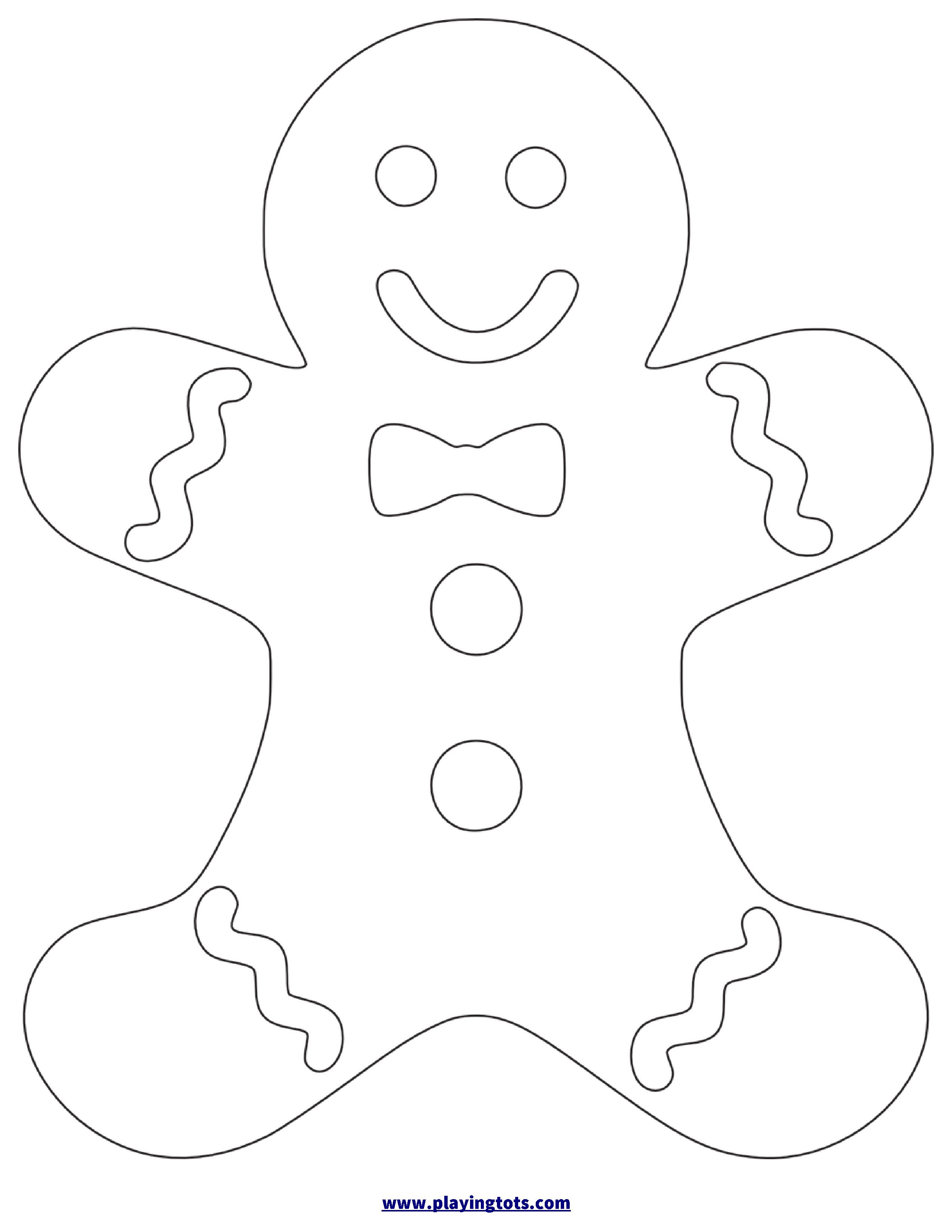 Free Printable Gingerbread Man Worksheet   Coloring Pages
