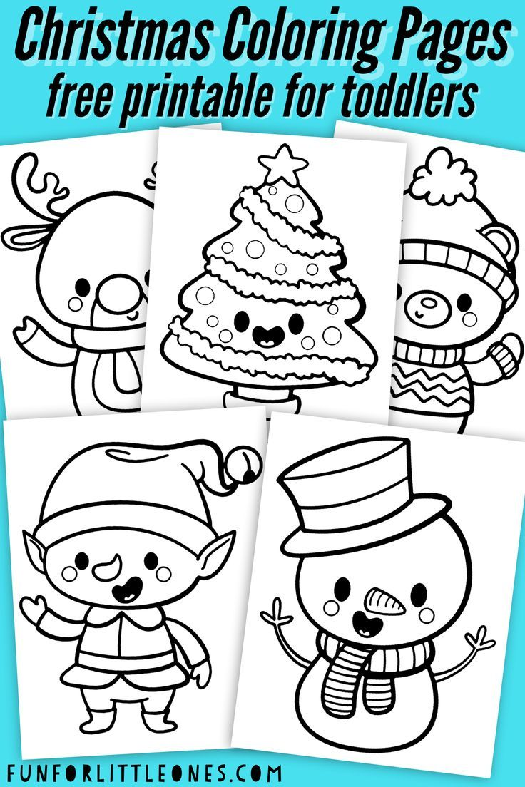 Christmas Coloring Pages For Toddlers (free Printable