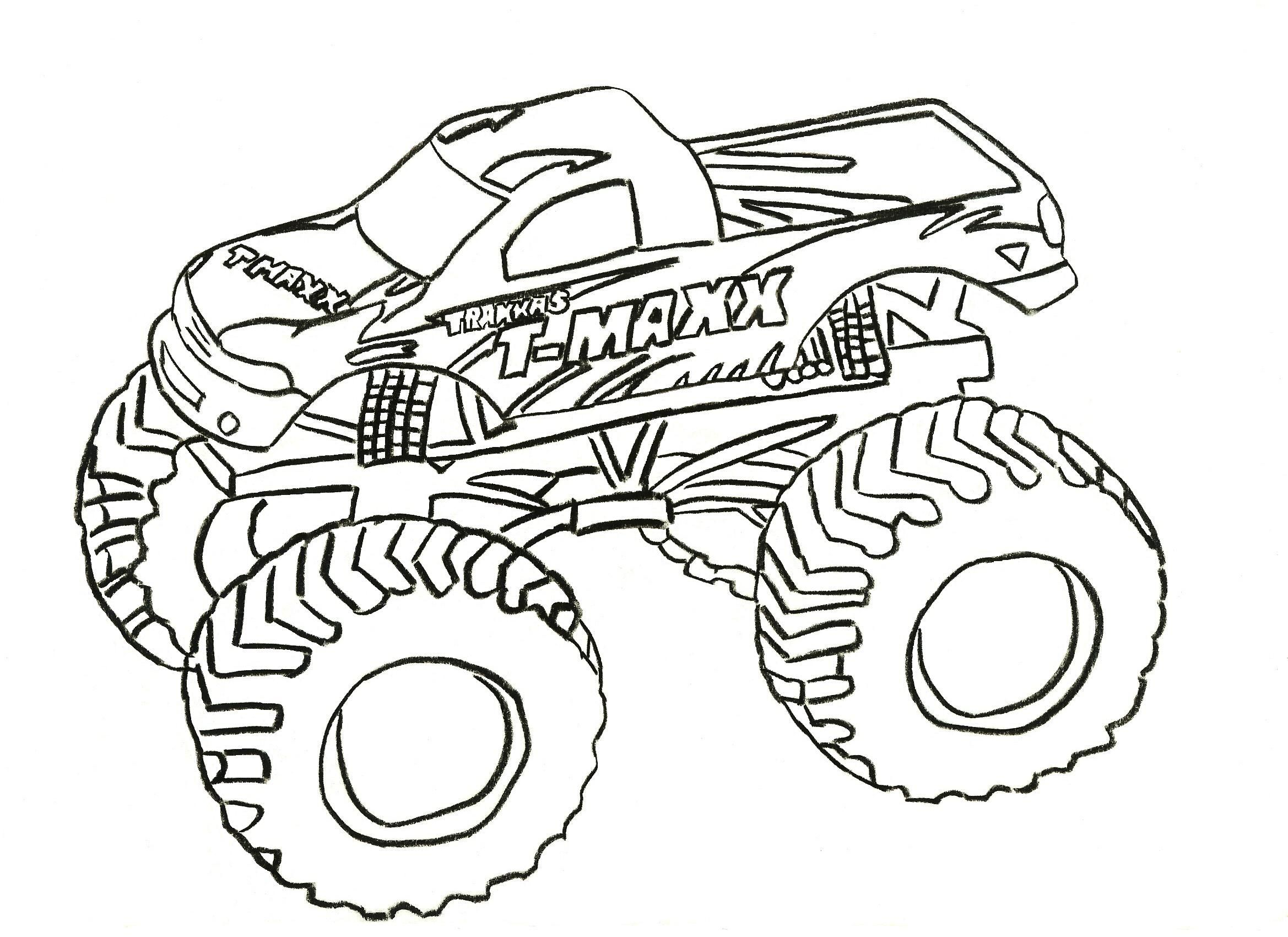 Free Printable Monster Truck Coloring Pages For Kids   Kids