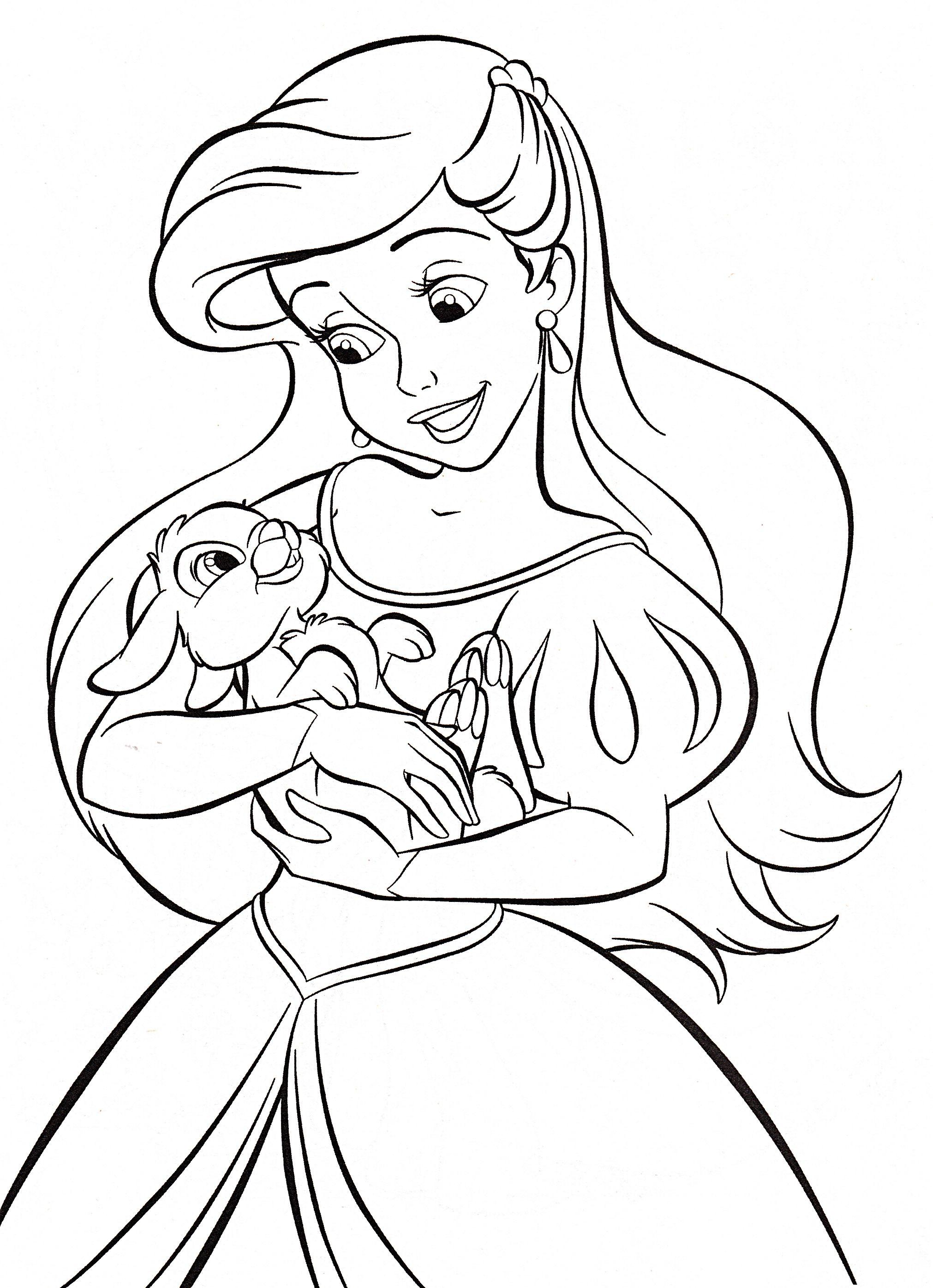 Walt Disney Coloring Pages - Princess Ariel   ���