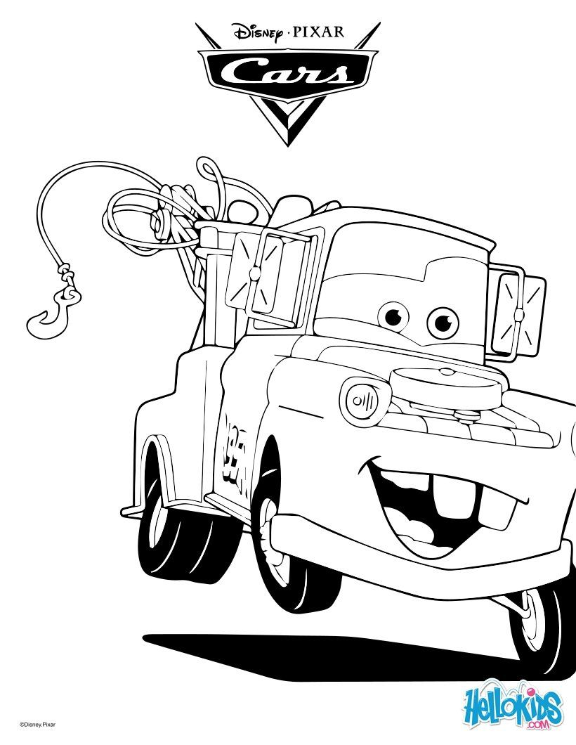 Mater The Tow Truck Coloring Page | Mc Queen | Omalovã¡nky