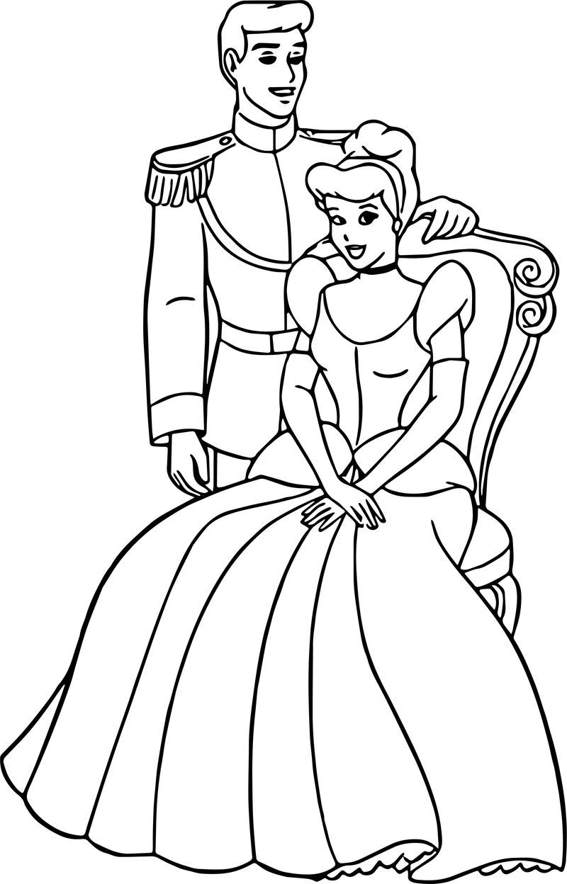 Cinderella And Prince Charming Coloring Pages 25 See The