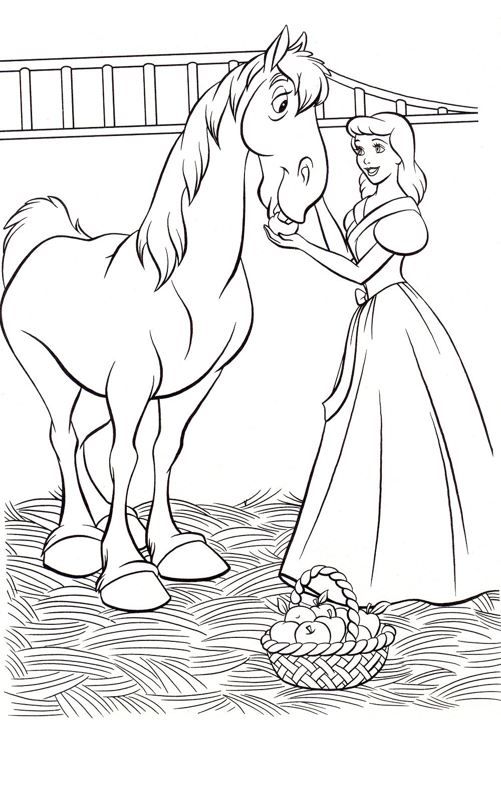 Cinderella Coloring Pages - Wowcom - Image Results