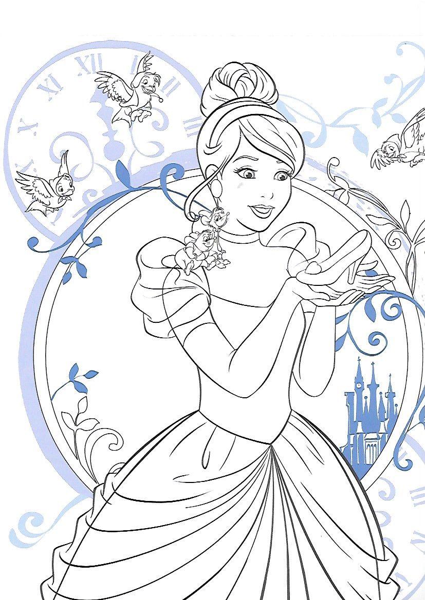 Pin By Linda Hatfield On Coloring   Cinderella Coloring