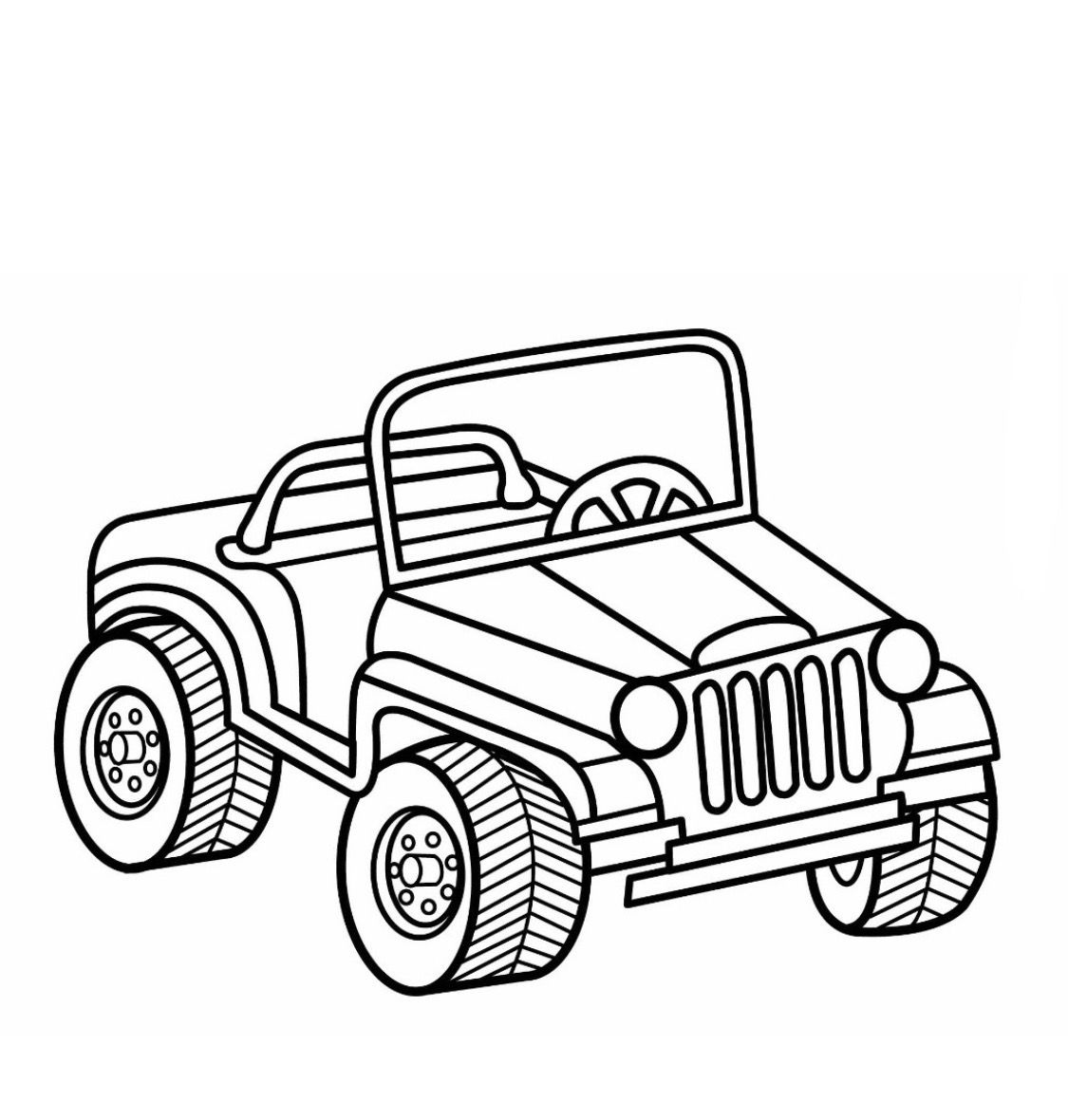 Jeep Coloring Page | Boy's Coloring Book | Cars Coloring