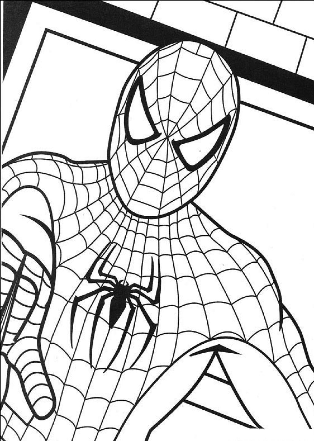 Free Printable Spiderman Coloring Pages For Kids | Super