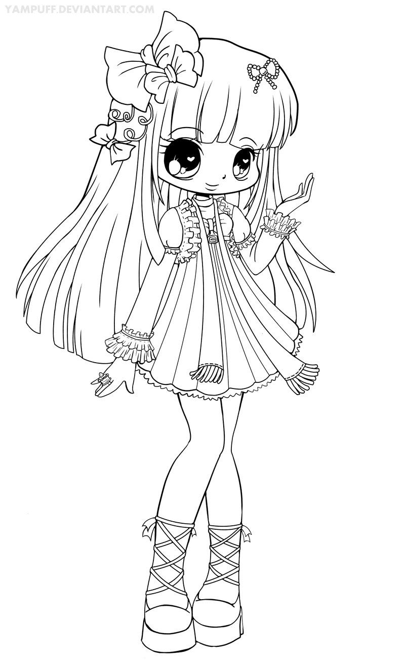Chloe Lineart | Coloring | Chibi Coloring Pages, Coloring