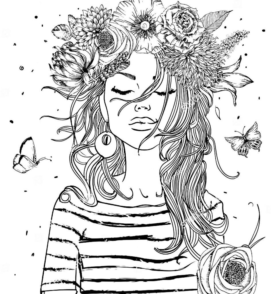 Girl Coloring Pages | Adult Coloring | Color, Coloring Pages