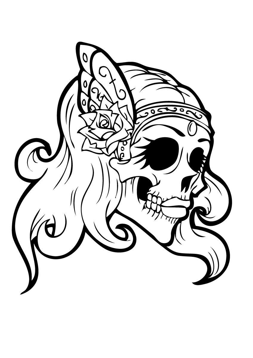 848x1200 Sugar Skull Girl Coloring Pages | Art | Coloring