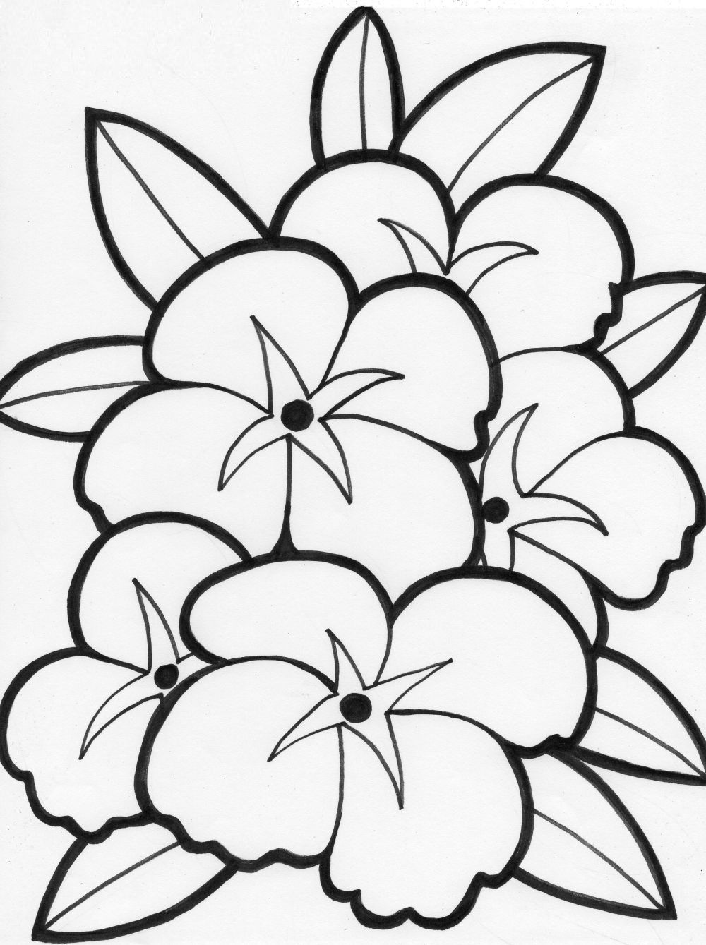 Coloring Pages Of Flowers For Teenagers Difficult | Only