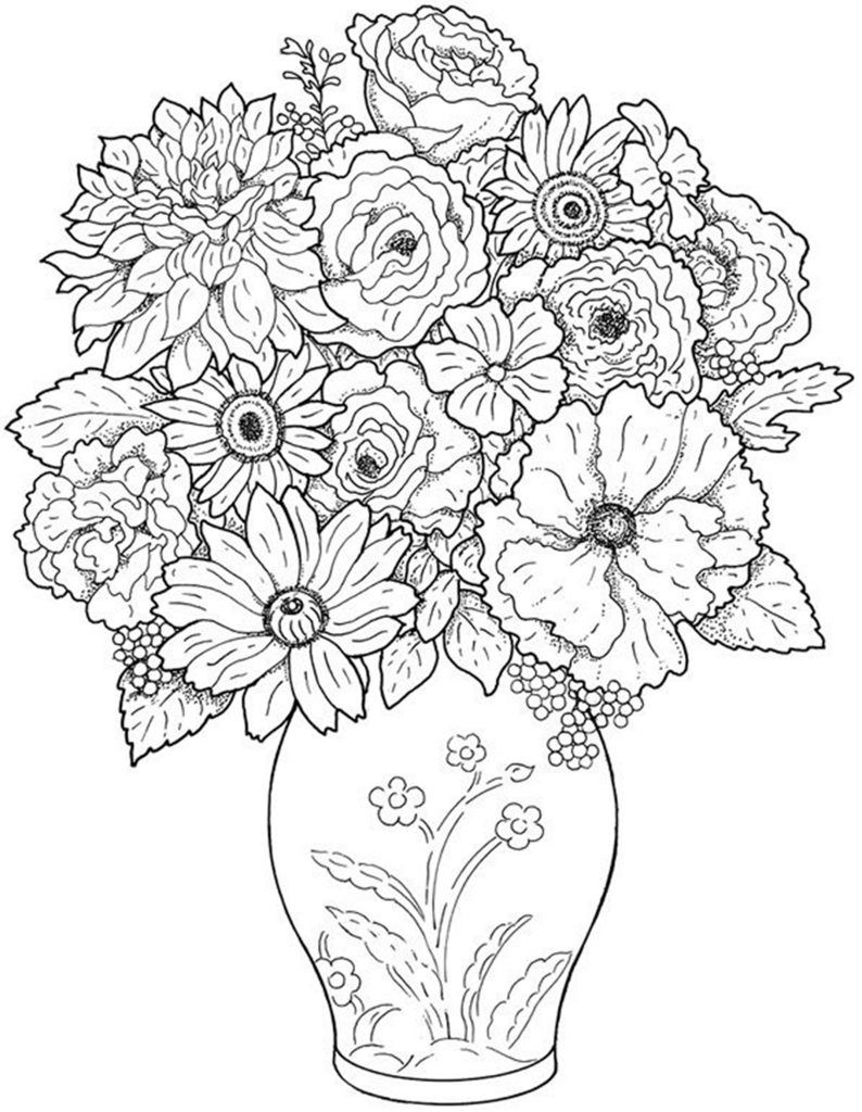Free Printable Flower Coloring Pages For Kids   Printables