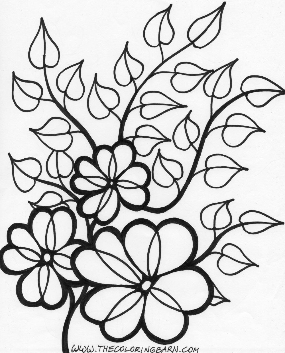 Flower Vines Coloring Page Wild Printable   Free Coloring