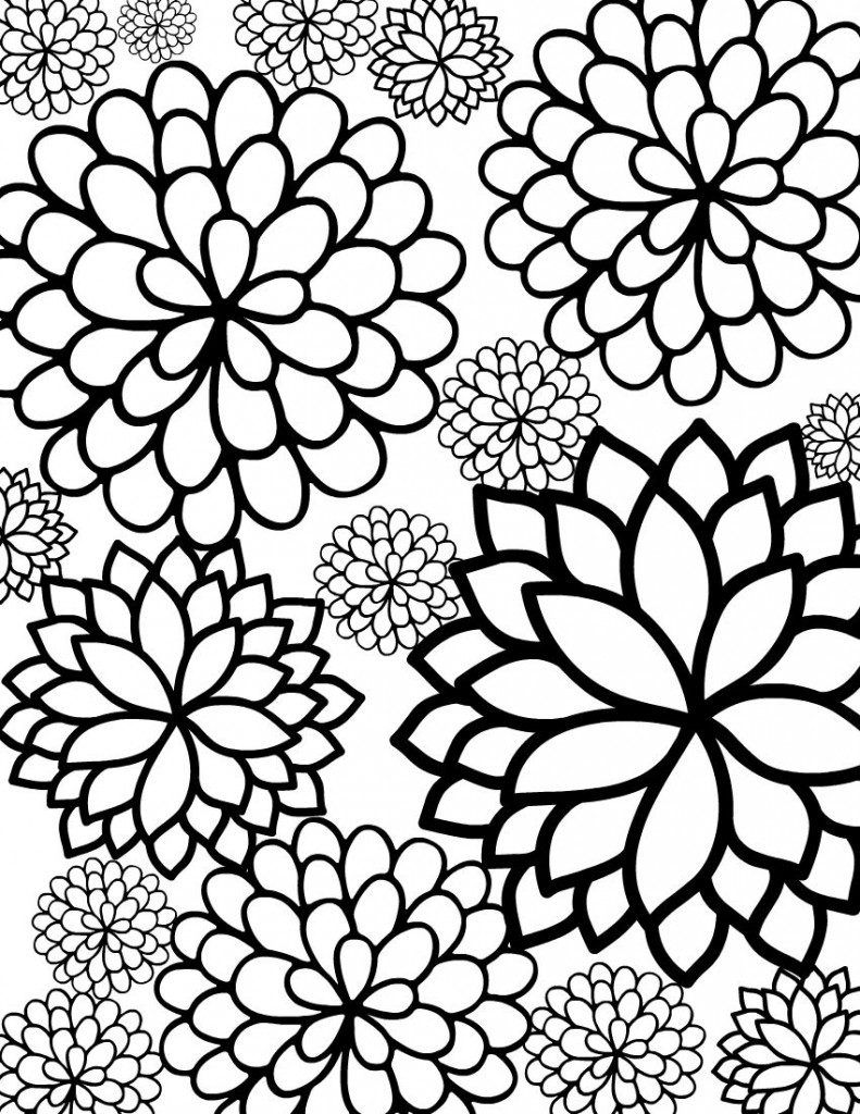 Free Printable Flower Coloring Pages For Kids   Paper