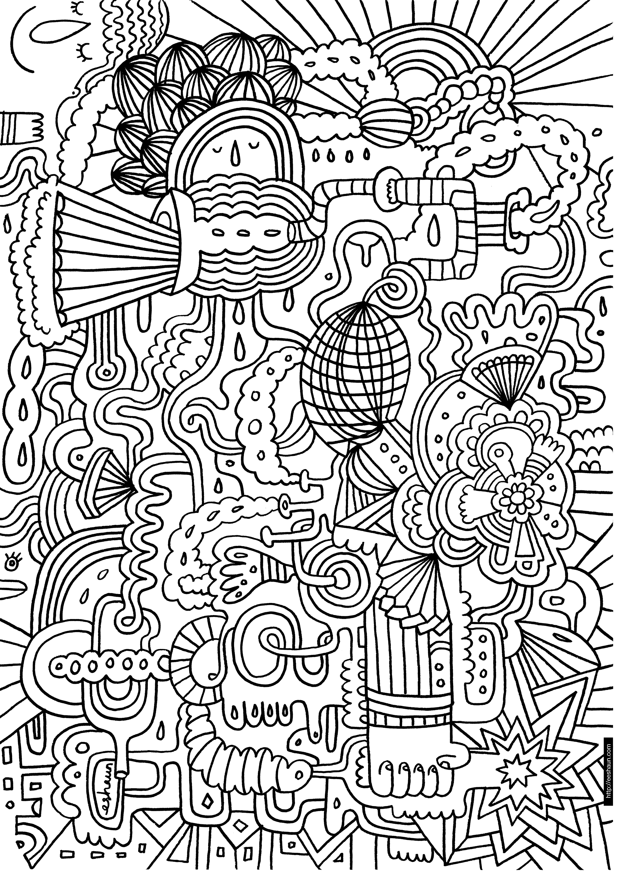 Detailed Coloring Pages For Adults | In Patterns Coloring