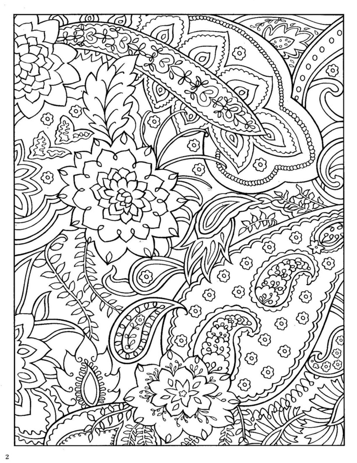 Dover Paisley Designs Coloring Book From Mariska Den Boer