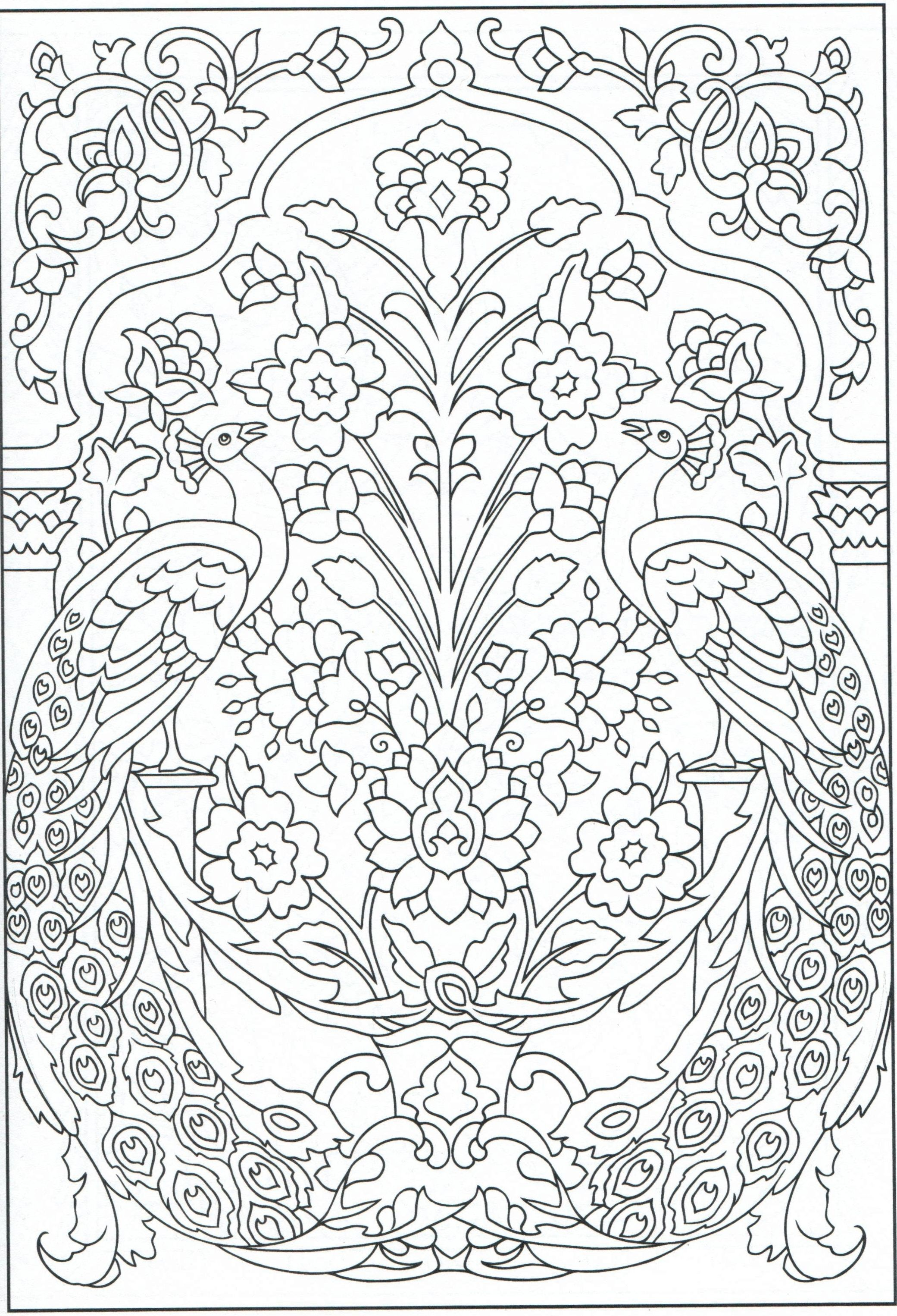 Peacock Coloring Page, For Adults 1/31 | Color Pages