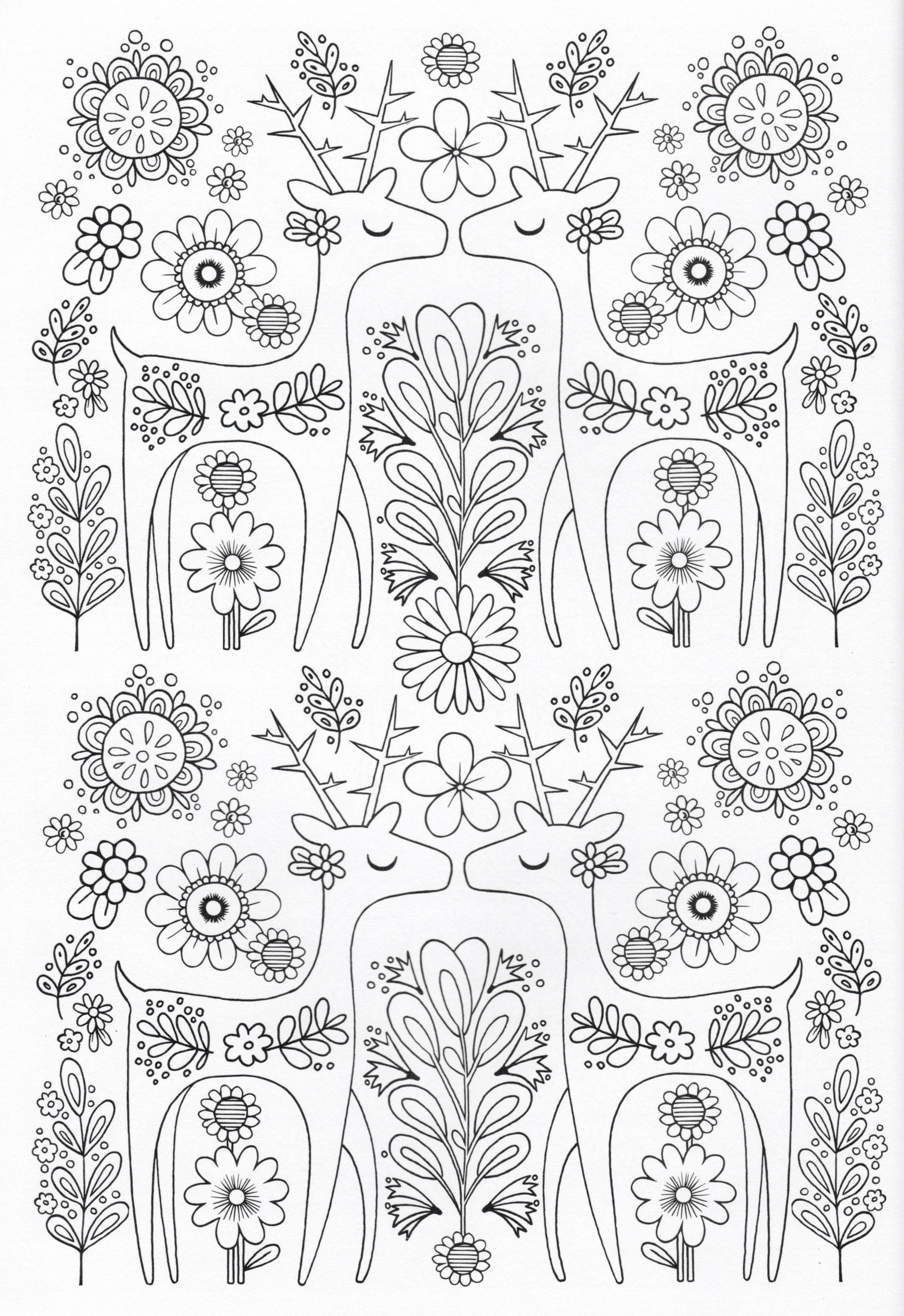 Scandinavian Coloring Book Pg 8   Color Pages, Stencils