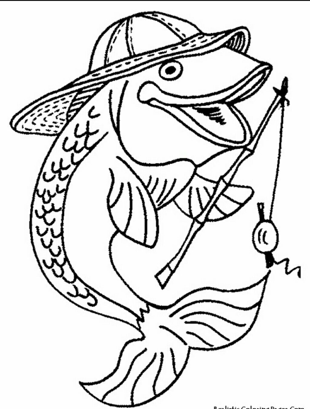 Pin By Coonassmom On *kk* Animals   Fish Coloring Page