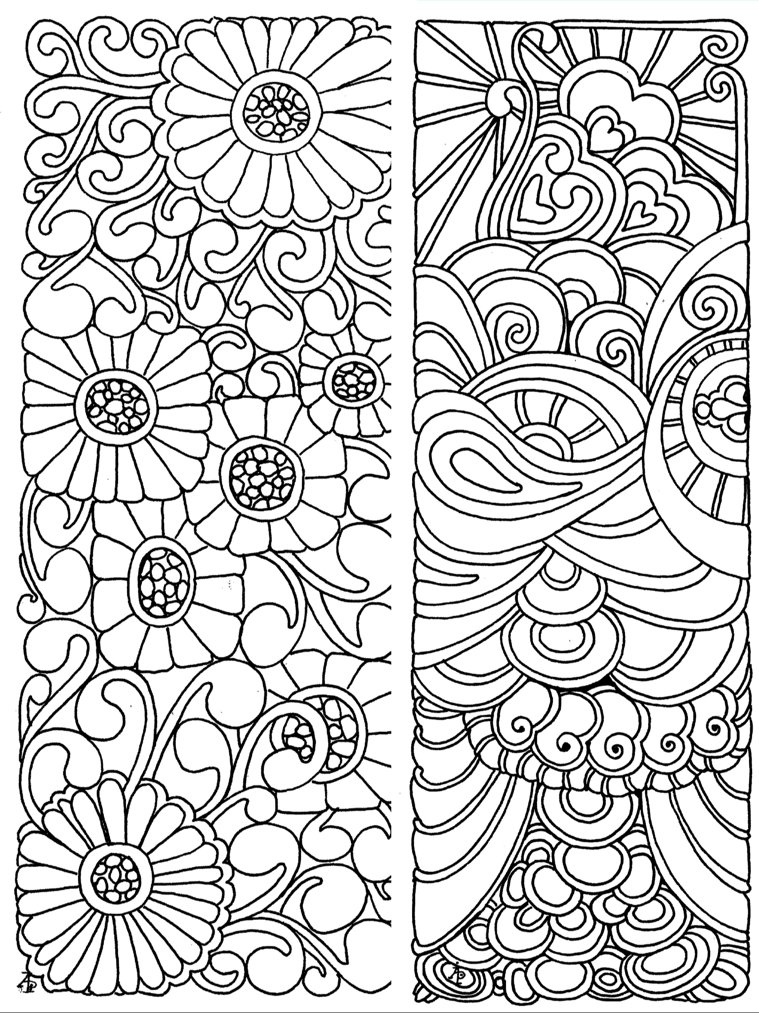 Bookmarks Coloring Page | Color: Bookmarks | Coloring Pages