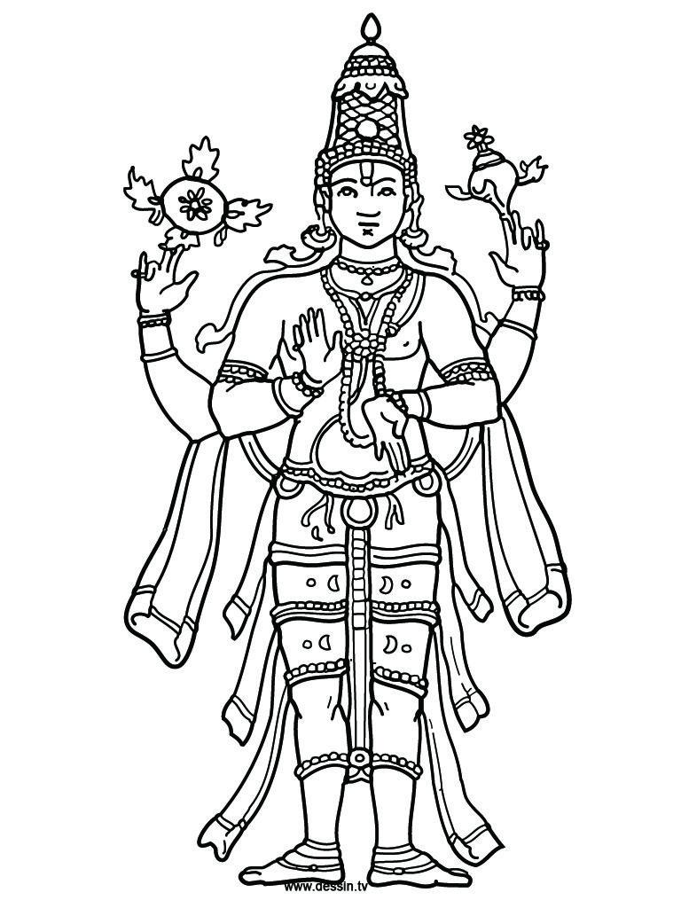 Coloring Vishnu   Drawing In 2019   Color, Hinduism, Shiva