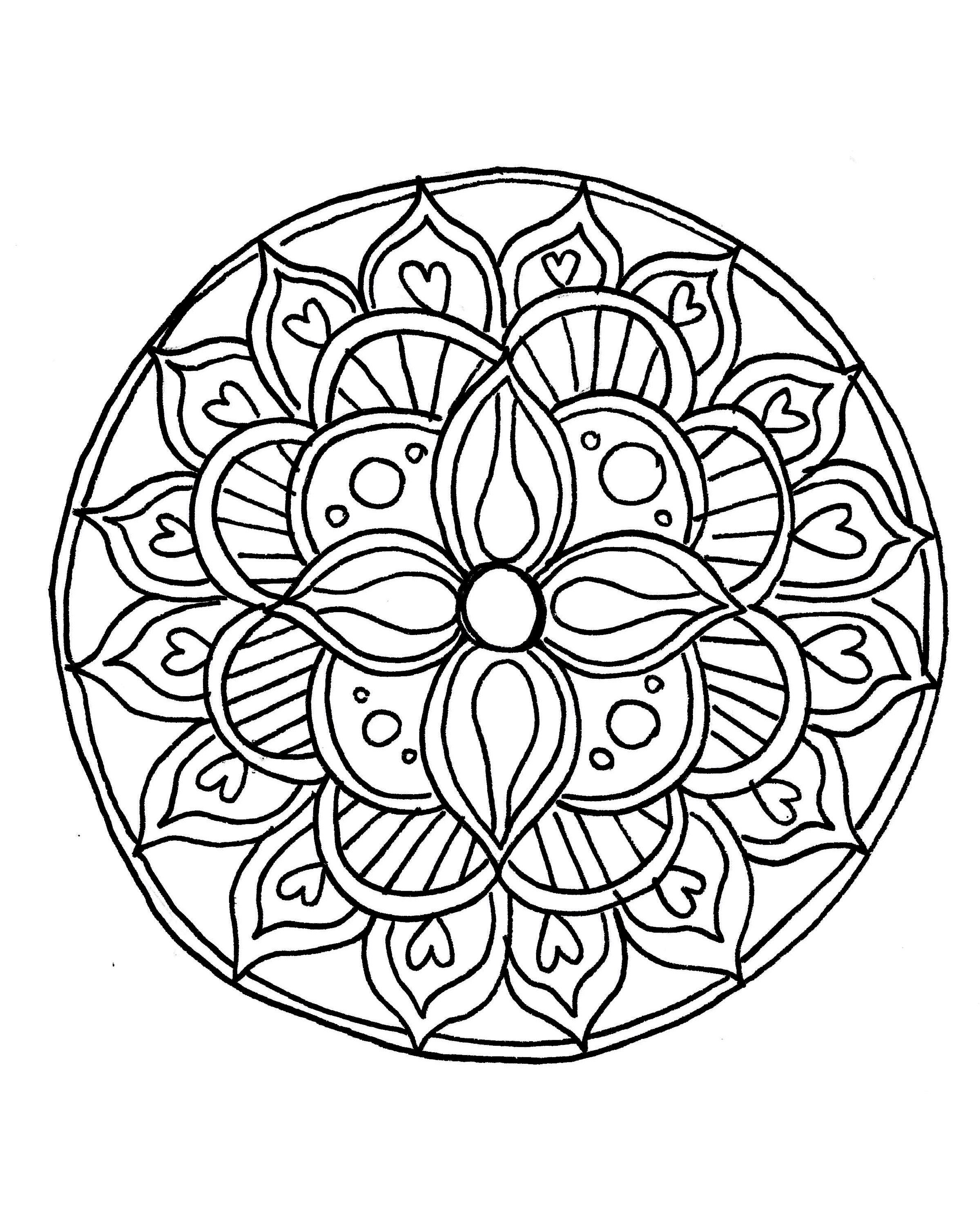 How To Draw A Mandala (with Free Coloring Pages!)   Drawings