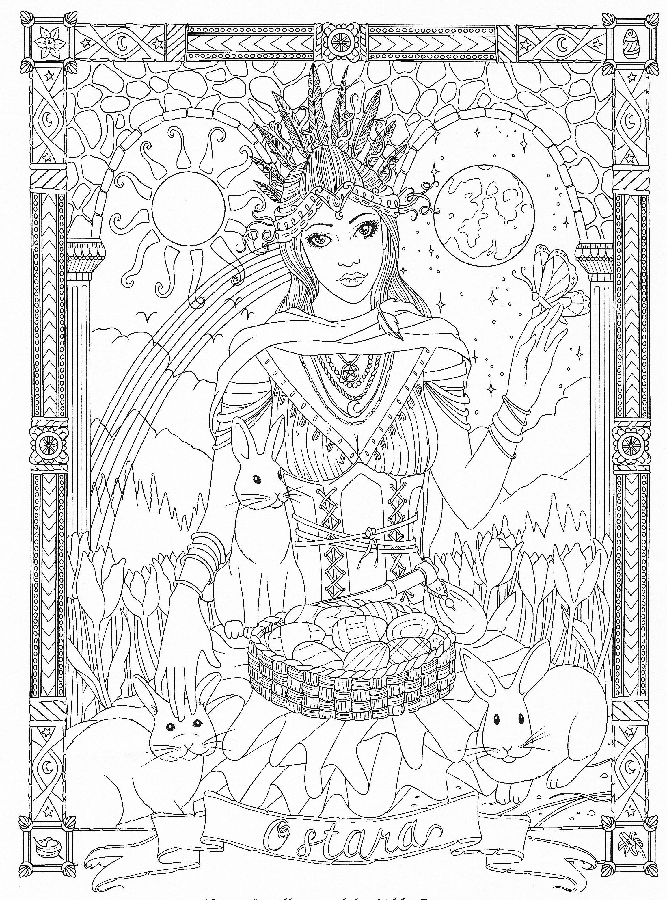 Goddess Coloring Page | Goddess Coloring Pages For Adults