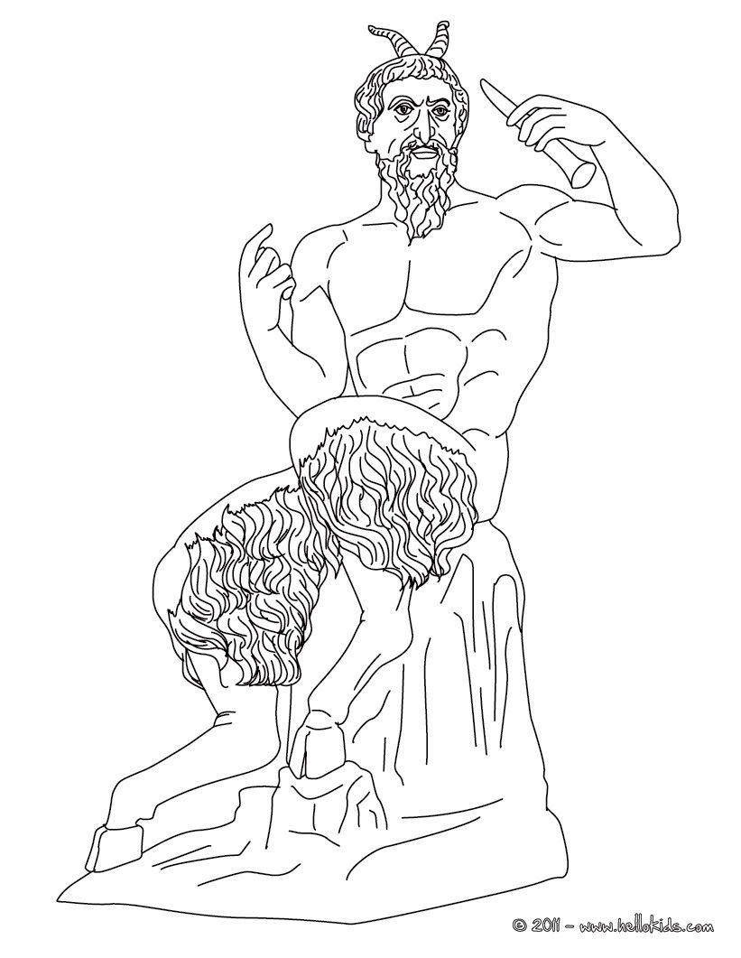 Greek Gods Coloring Pages - Pan Greek God Of The Wild