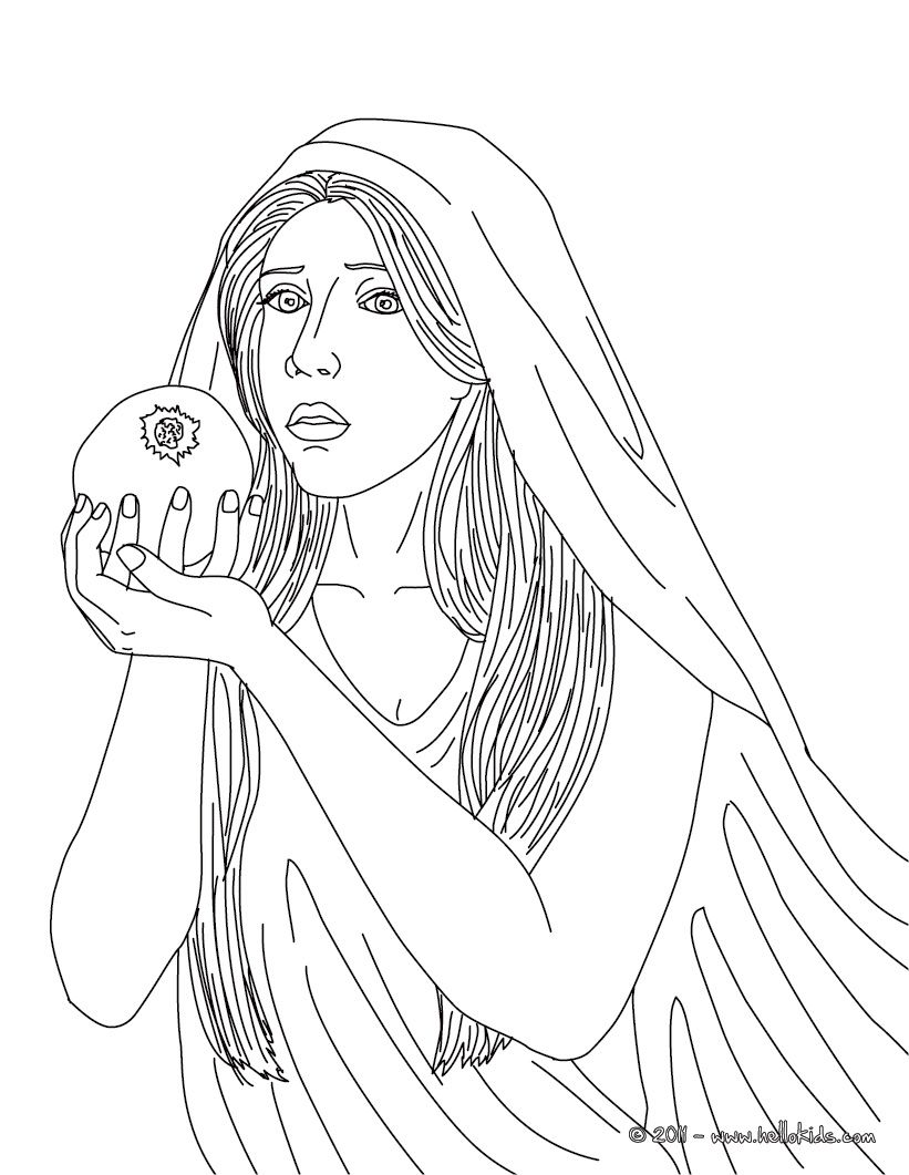 Greek Goddesses Coloring Pages - Persephone The Greek