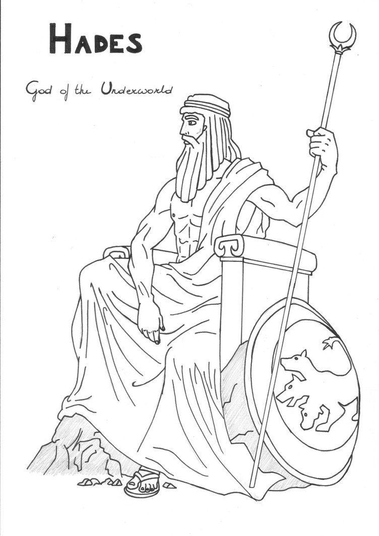 Hades Coloring Page Greek God Mythology Unit Study By