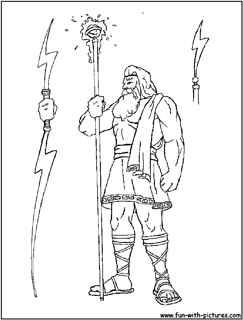 Zeus Greek God Coloring Pages | Amazing Coloring Pictures