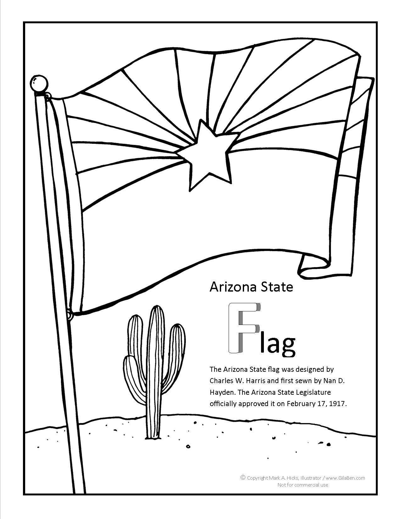 Arizona Coloring Pages | To Download Or Print The Arizona