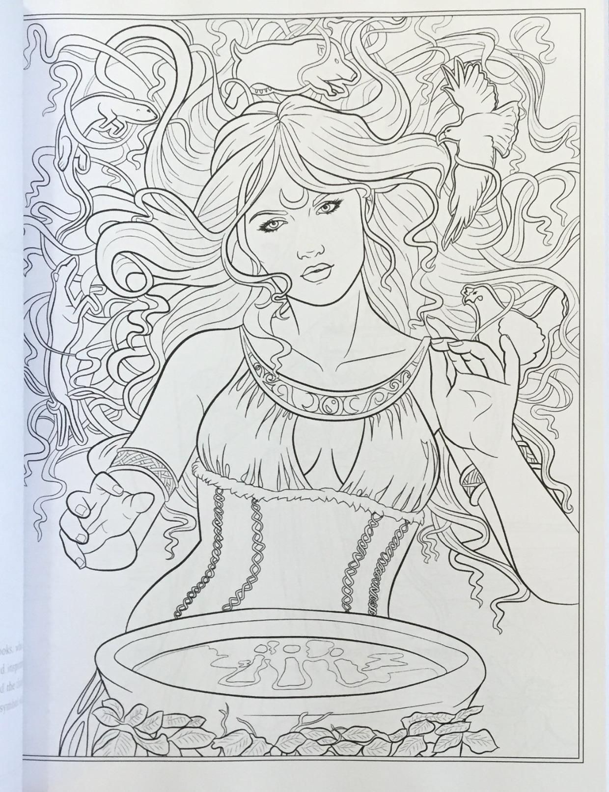 Goddess And Mythology Coloring Book (fantasy