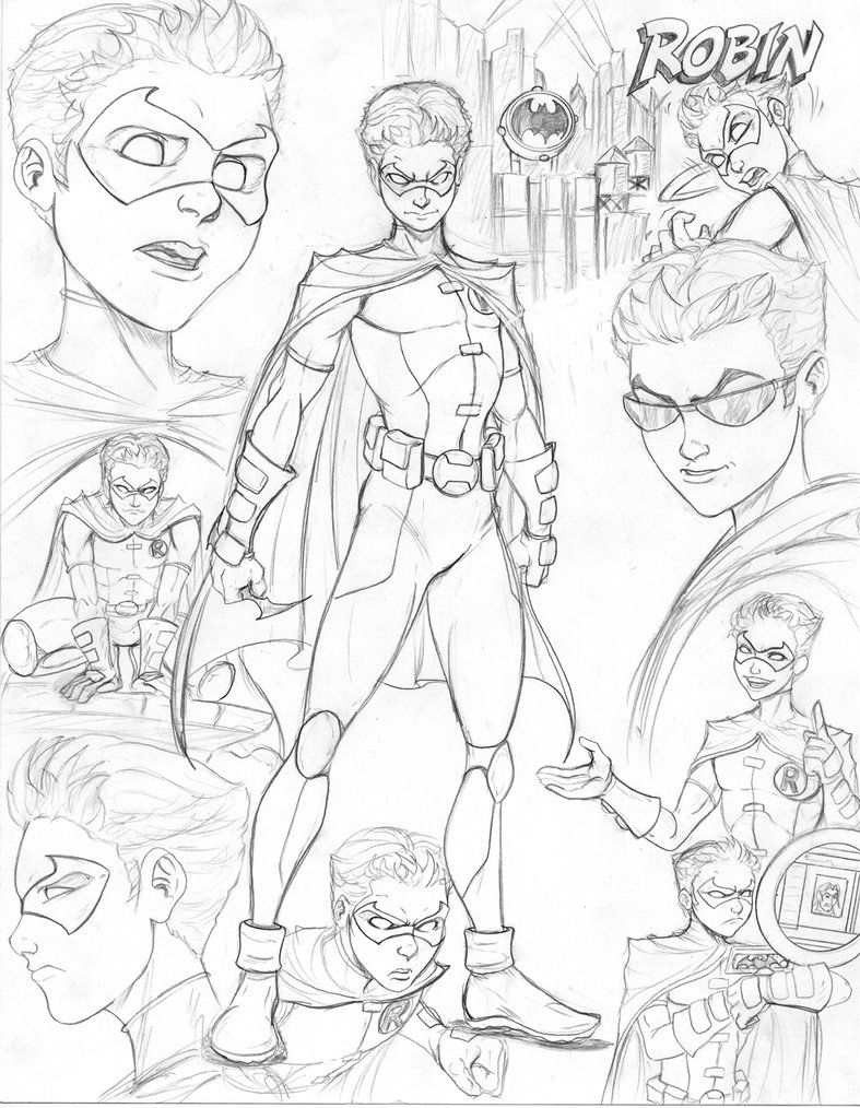 Young Justice Robin Coloring Pages   Young Justice   Young