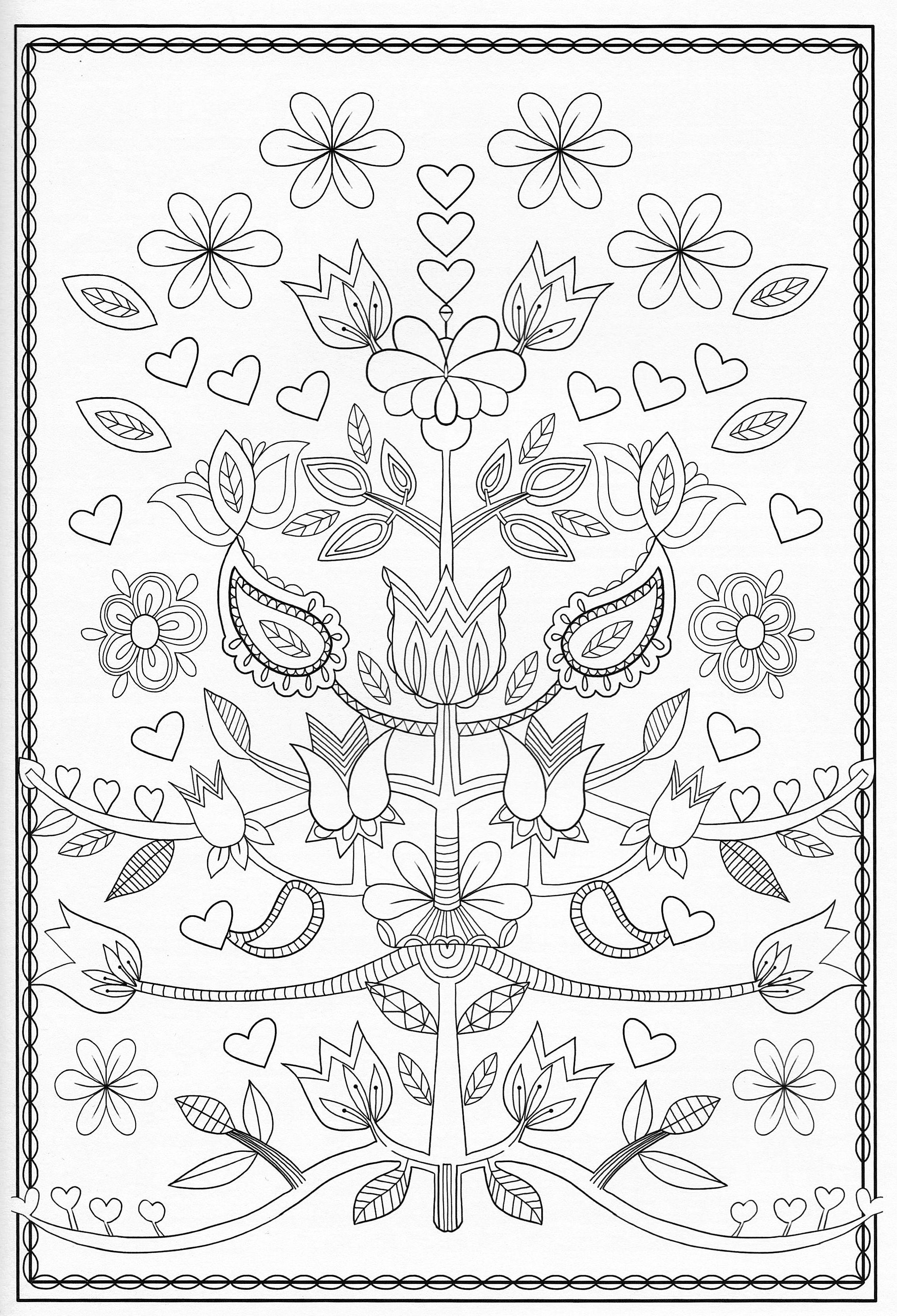 Scandinavian Coloring Book Pg 51 | Color Pages, Stencils