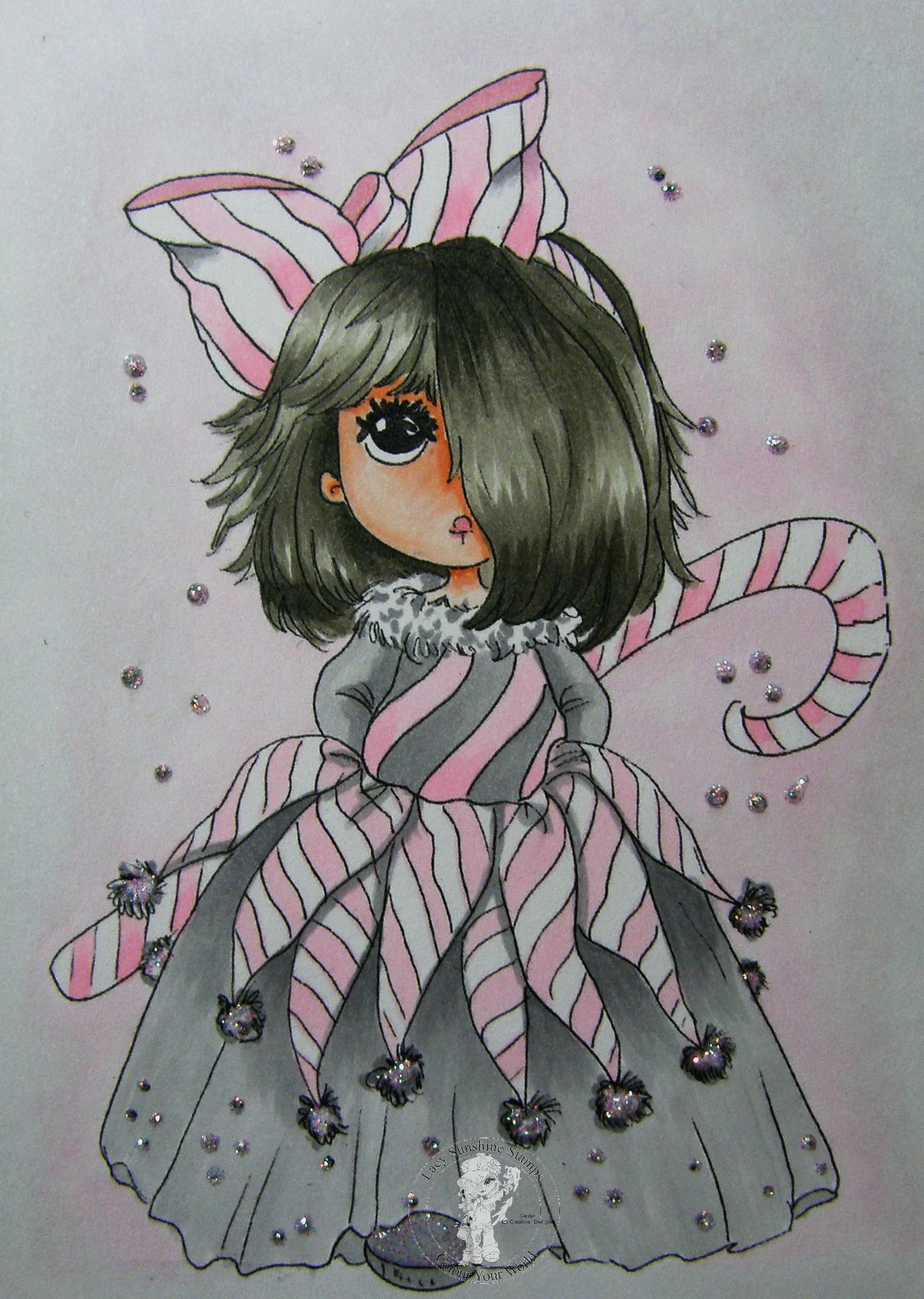 Coloring: Peppermint Sugi Digital Image From Lacy Sunshine