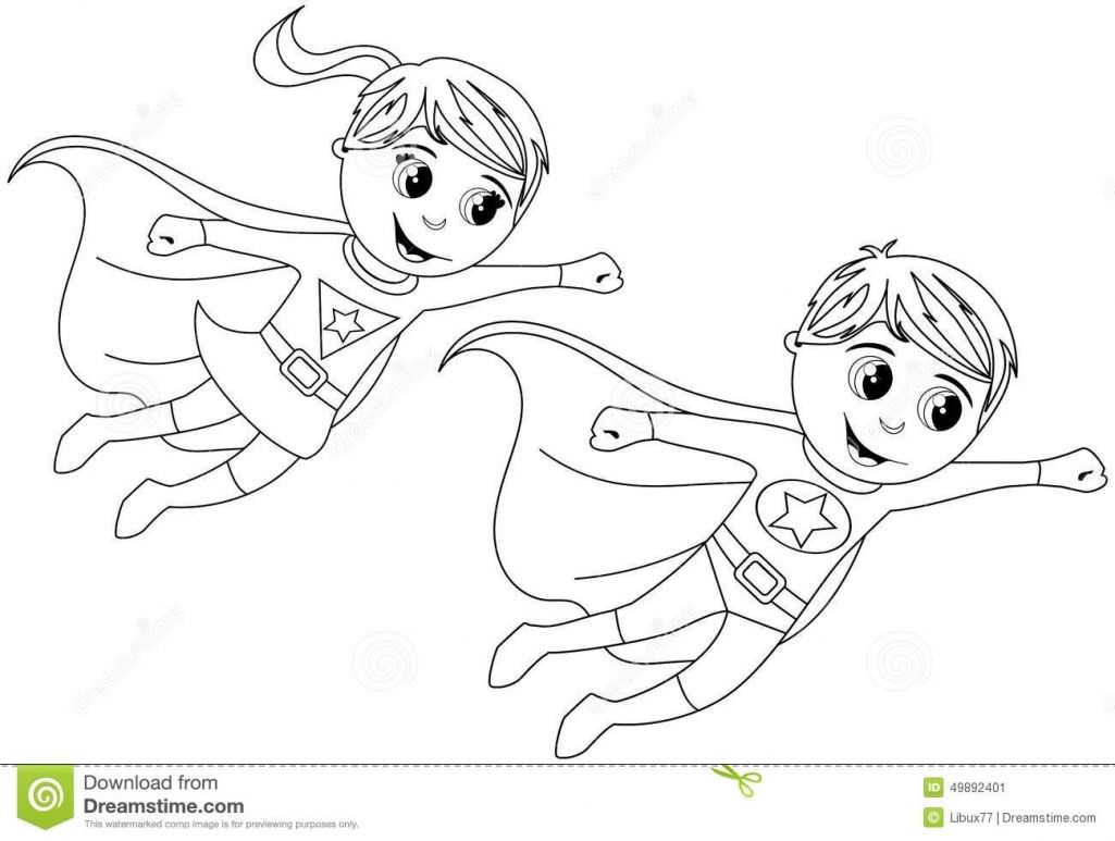 Free Coloring Pages Of Superhero Outline Superhero Clipart
