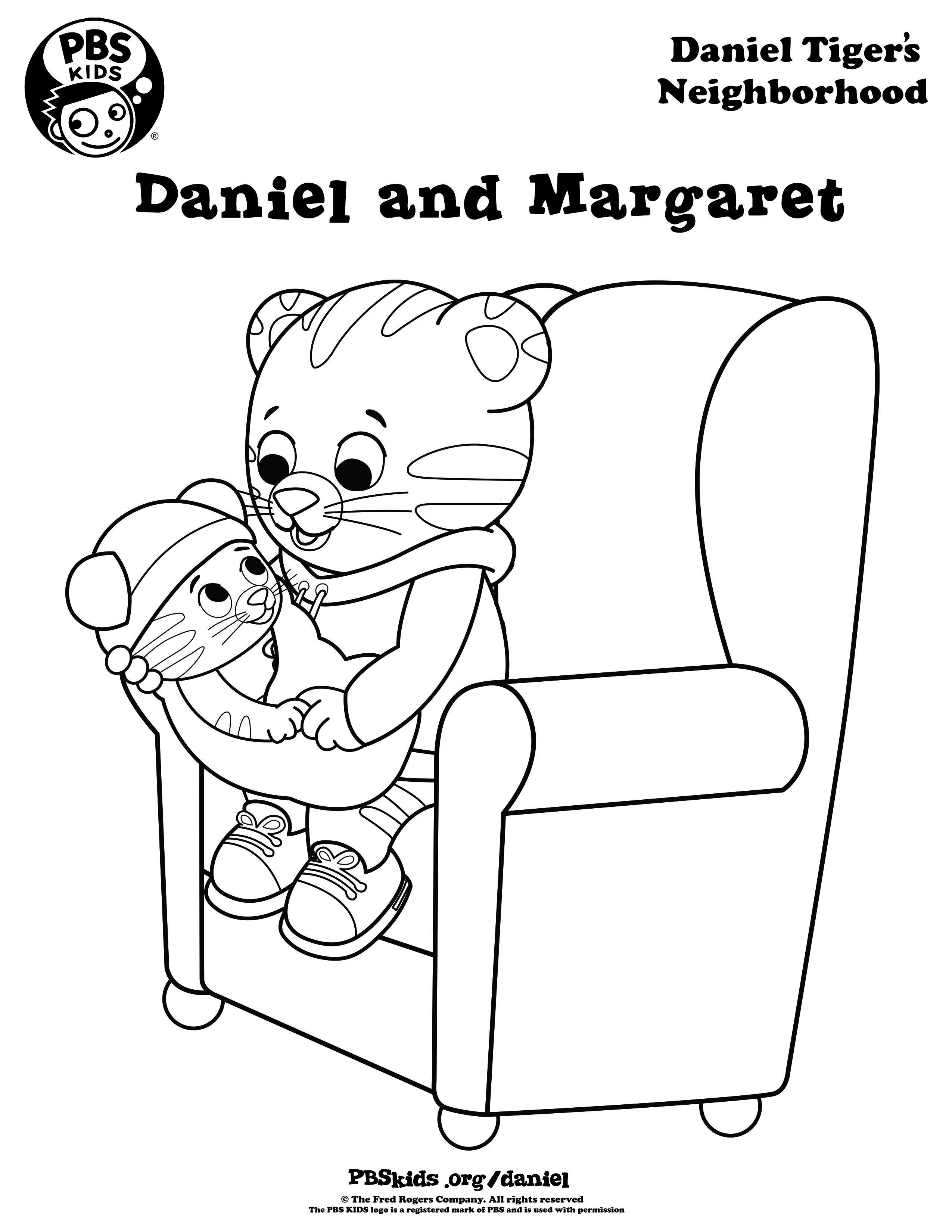 Coloring | Daniel Tiger's Neighborhood | Pbs Kids | Pbs