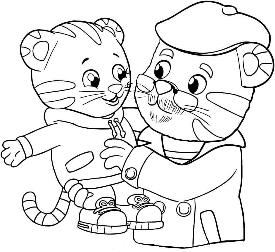 Daniel Tiger Coloring Pages   Cartoon Coloring Pages