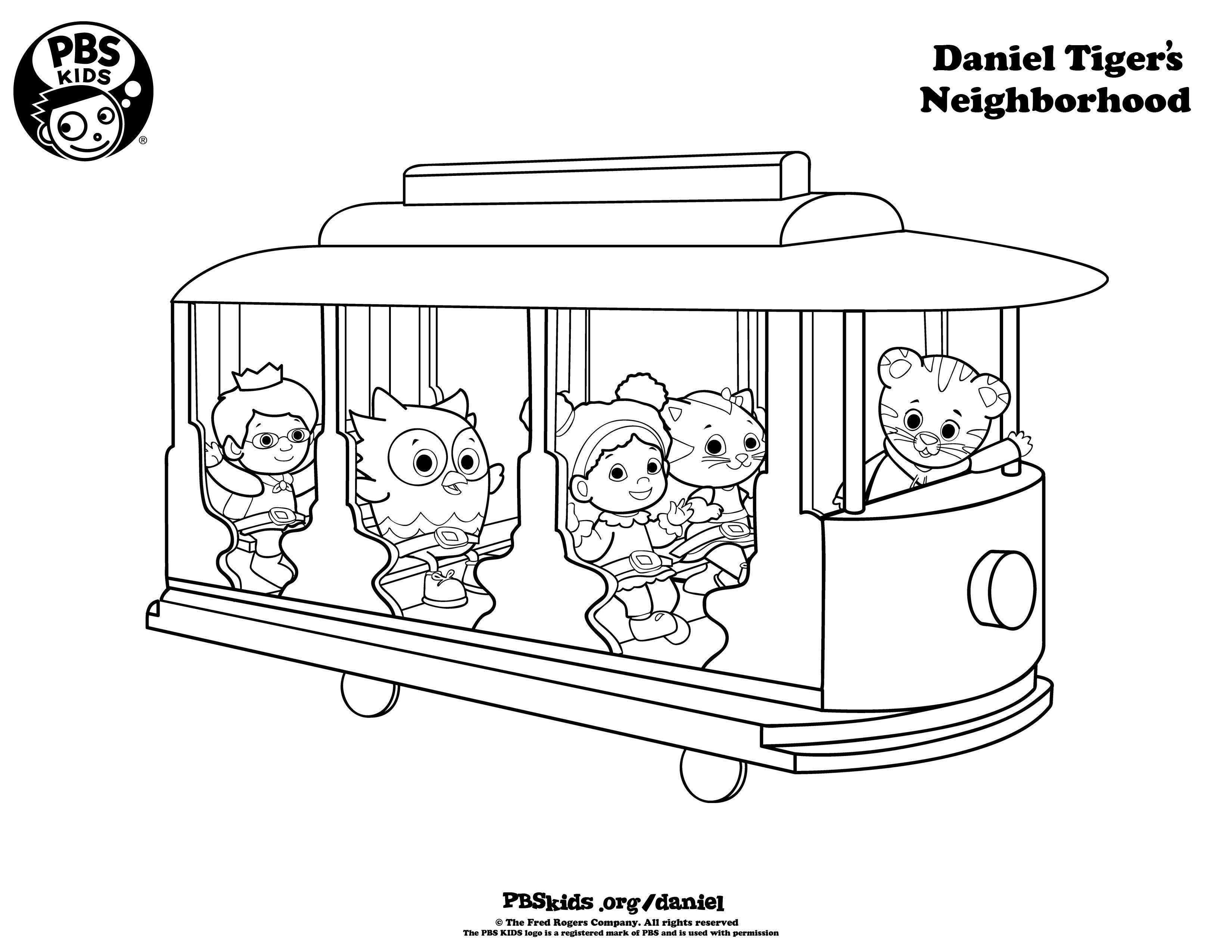 Daniel Tiger Coloring Pages  Daniel Tiger Birthday Party
