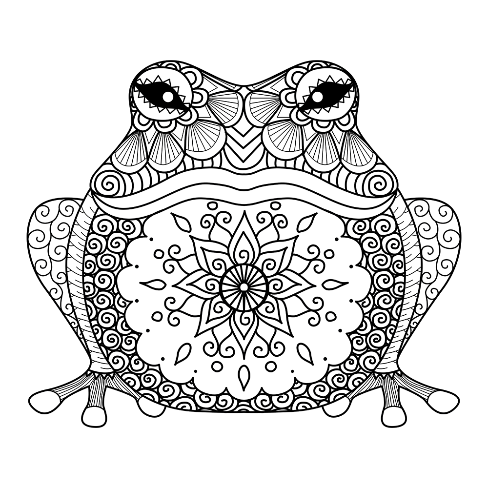Frog Prince Adult Coloring Page | Coloring Pages | Frog