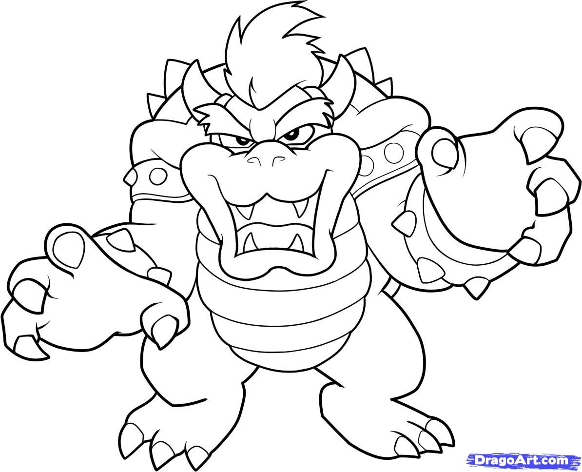 Mario Bros Bowser Coloring Pages By Sharon | Mario Party