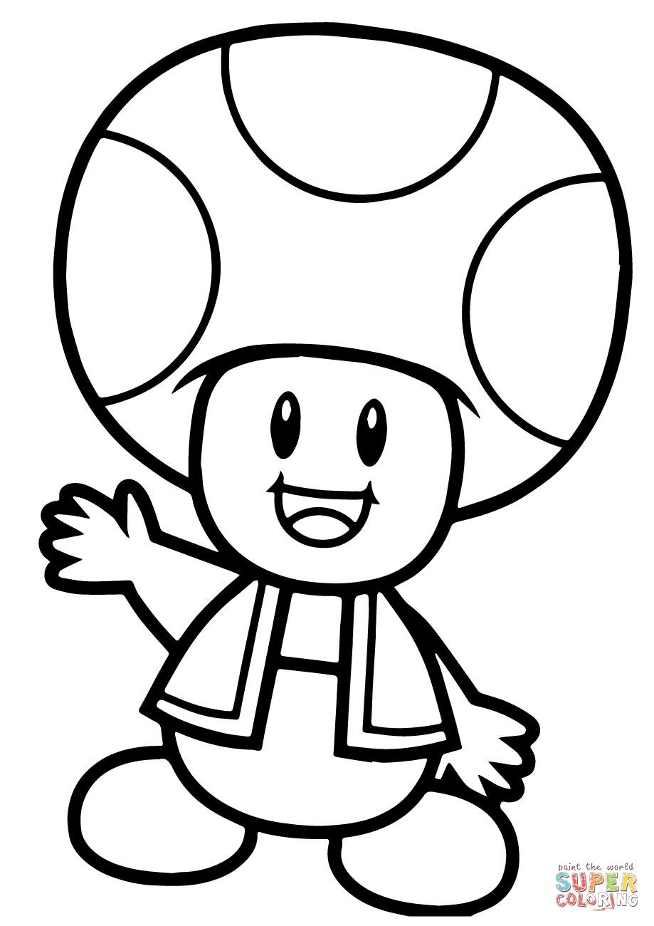Super Mario Bros Toad Coloring Page | Free Printable