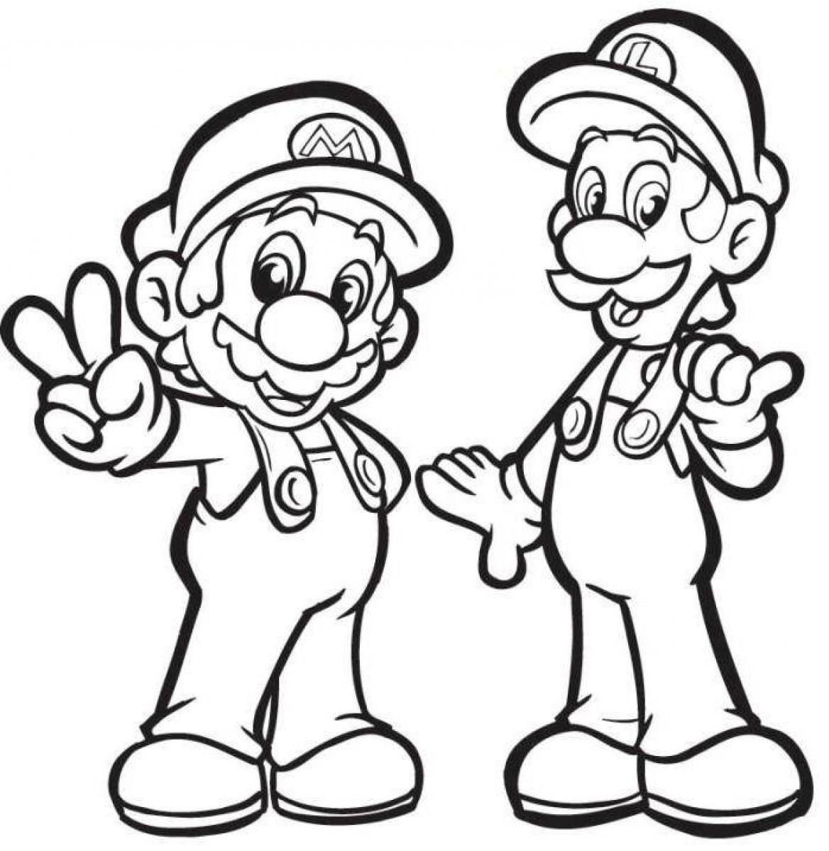 Luigi Coloring Pages, Printable Luigi Coloring Pages, Free
