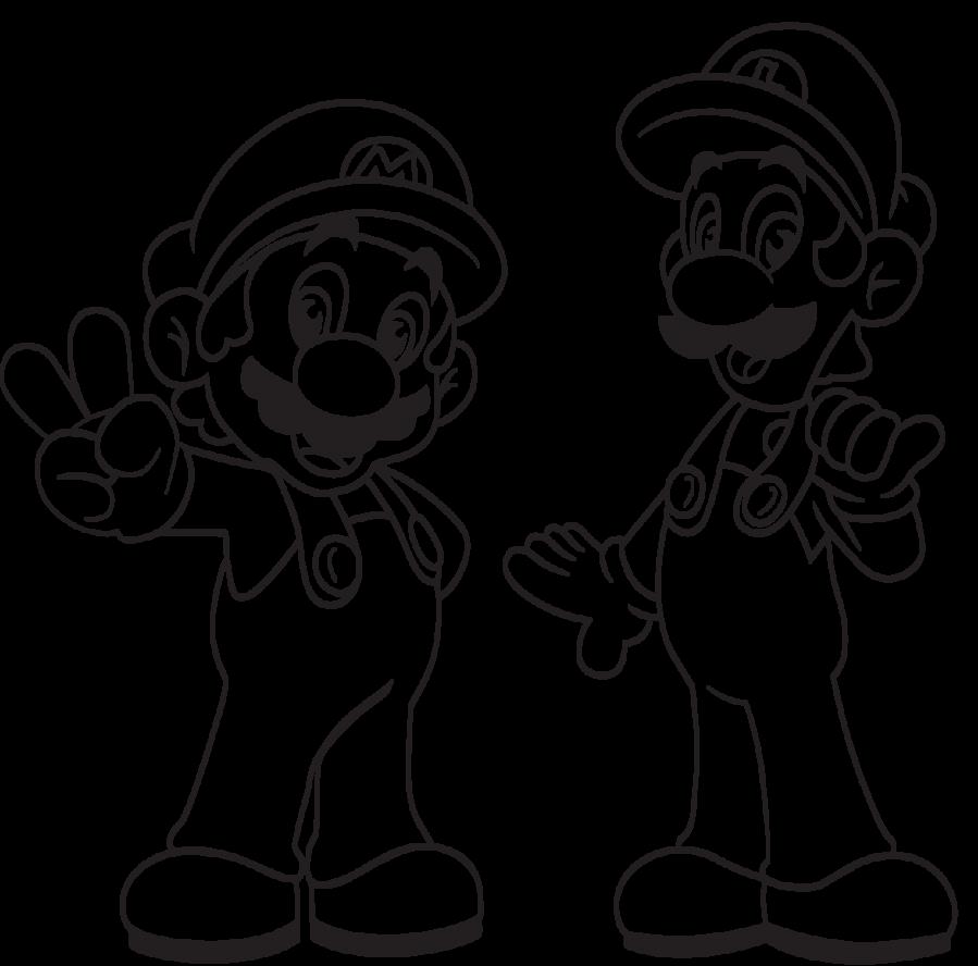 Printable Luigi Coloring Pages | Game Room Ideas | Mario